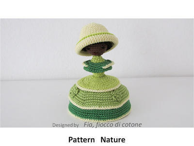 Pattern Nature , miniature doll amigurumi