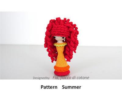 Pattern Summer , miniature doll amigurumi crochet
