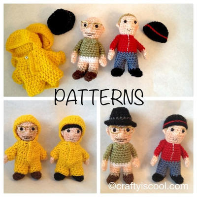Breaking Bad inspired Amigurumi Crochet PATTERNS Walt & Jesse