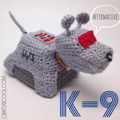 Doctor Who K-9 Amigurumi Crochet Pattern