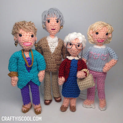 Golden Girls Crochet Amigurumi Pattern Set