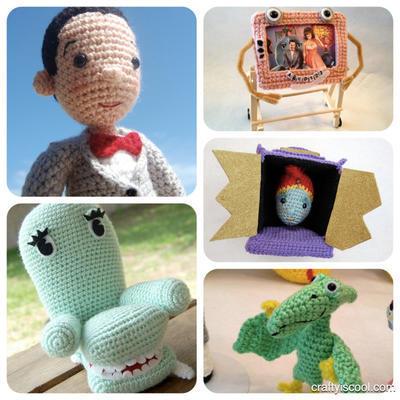 Pee-wee and Friends Pee-wee's Playhouse Crochet Amigurumi Pattern Set 5 patterns