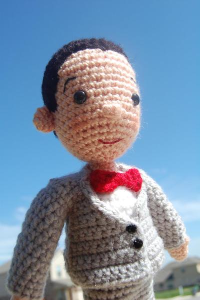 Pee-wee Herman Crochet Amigurumi Pattern