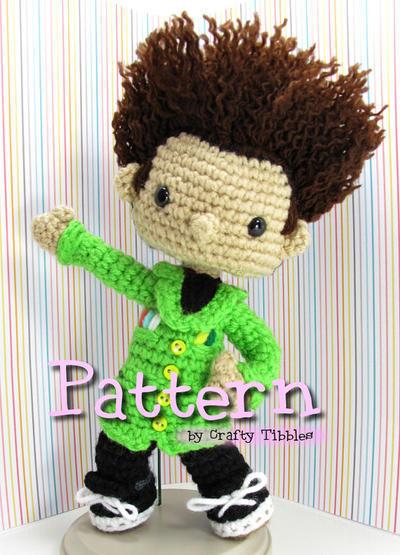 Beakman's World Paul Zaloom Crochet Amigurumi Pattern