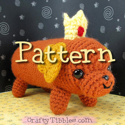 Hot Dog Princess Crochet Amigurumi Pattern