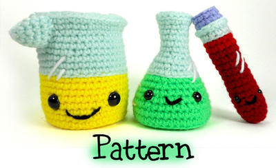 Laboratory Set Crochet Amigurumi Pattern
