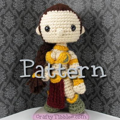 Slave Leia Crochet Amigurumi Pattern
