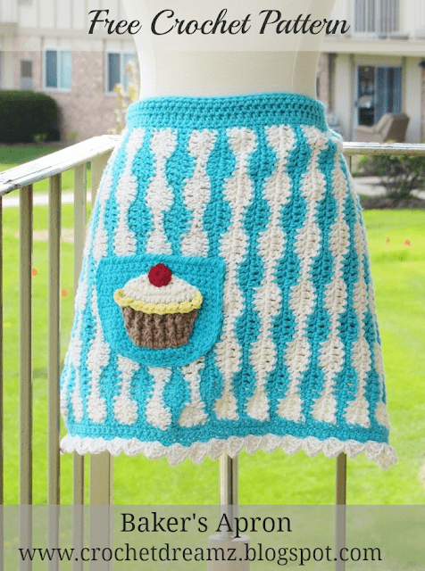 Baker's Apron with Jumbo Cupcake Applique