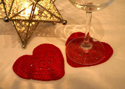 Heart shaped Coaster , Valentines Day
