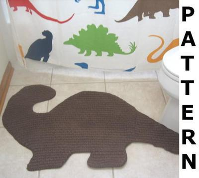 Dino Bath Mat Crochet Pattern