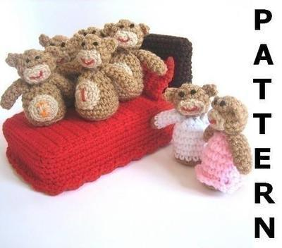 Five Little Monkeys Jumping on the Bed Crochet Pattern