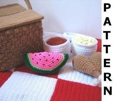 Picnic Basket Play Food Crochet Pattern