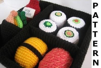 Play Food Crochet Pattern - Sushi