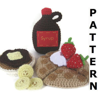 Waffles, Pancakes & Syrup Play Food Crochet Pattern