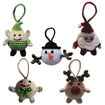 Christmas Character Ball Ornaments