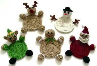 Christmas Character Coasters