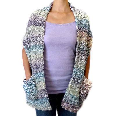 Cozy Shawl Wrap with Pockets