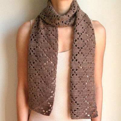 Diamond Eyelet Scarf