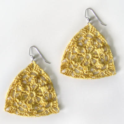 Floral Triangle Earrings