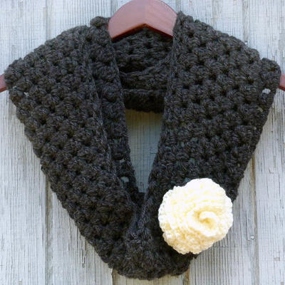 Graphite and Rose Infinity Scarf
