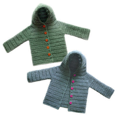Hooded Baby Cardigan Sweater (5 Sizes)