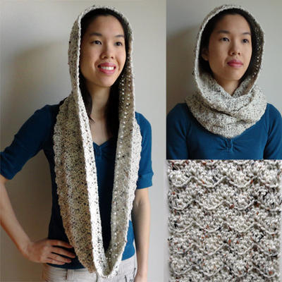 Hooded Chevron Cowl