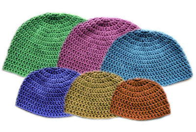 Light Family Beanie Set (6 Sizes) - PDF Crochet Pattern