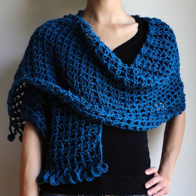 Lover's Knot Blue Wrap