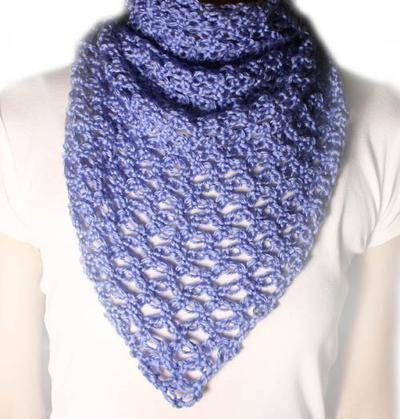 Lover's Knot Triangle Scarf