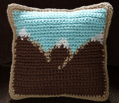 Mountain Scenery Mini Pillow