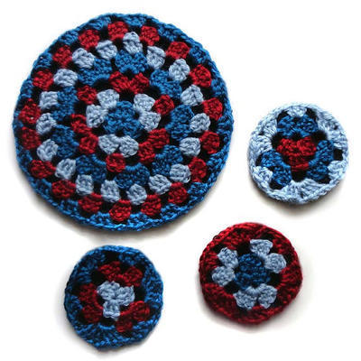 Round Granny Coaster and Trivet Set