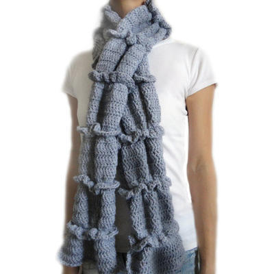 Ruched Ruffle Scarf
