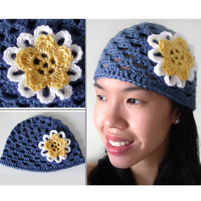 Spring Flower Beanie (5 sizes)