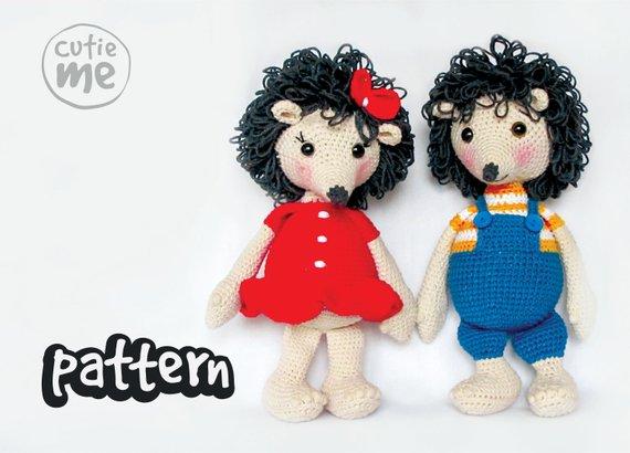 PATTERN Bob and Lola Hedgehogs Crochet Pattern