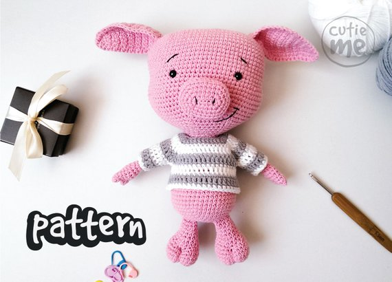 PATTERN Bublik the Pig Crochet Pattern