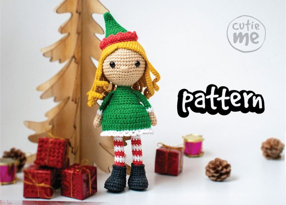PATTERN Christmas Elf Crochet Pattern Christmas.