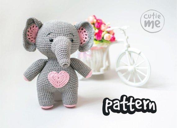 PATTERN Melman the Elephant Crochet Pattern.