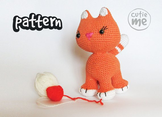 PATTERN Mia the Cat Crochet Pattern Cat.