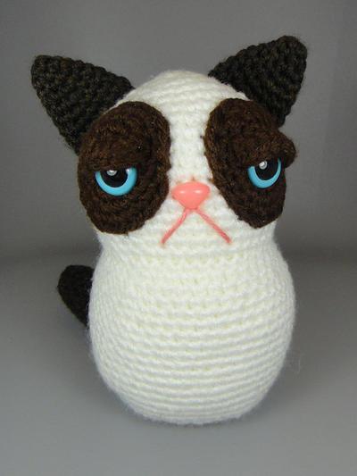 Grumpy Cat Crochet Hat Pattern Free : misterpattern - Grumpy Kitty - PDF amigurumi crochet pattern
