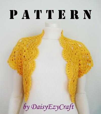 Hand Crocheted Vest - Instant download