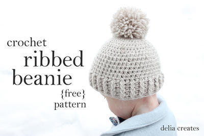 Crocheted Ribbed Beanie