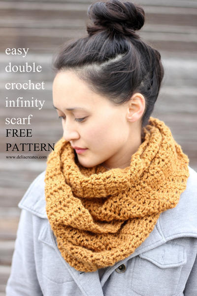 Easy Double Crochet Infinity Scarf