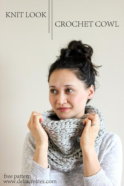 Knit Look Crochet Cowl