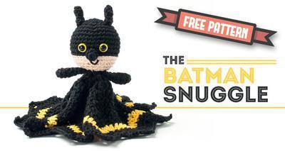 Free amigurumi pattern Batman snuggle