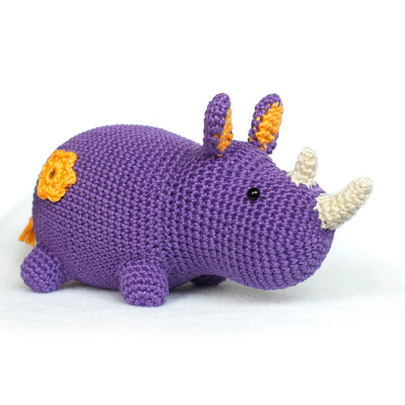 Crochet Pattern rhino amigurumi PDF