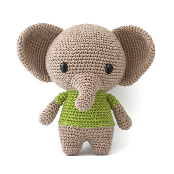 Joe the Elephant amigurumi crochet pattern PDF