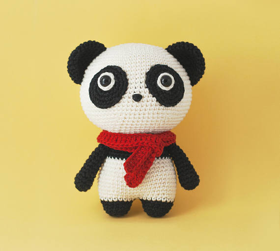 Momo the Panda Bear Amigurumi crochet pattern PDF