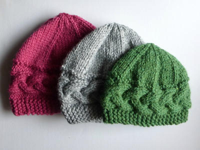 Lateral Braid Hat Knitting Pattern