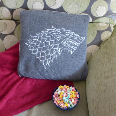 """Stark"" Pillow Knitting Pattern"