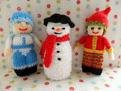 Christmas Doll Knitting Pattern / Jack Frost, Snowman & Christmas Elf Doll